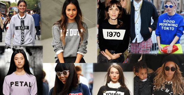 Sloganlı Sweatshirt Modası