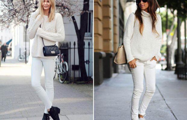 Beyaz Pantolonunuzu Eskitmenize Yardımcı Olacak 7 Kombin Fikri