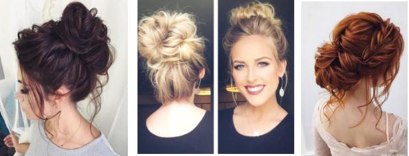 Haarknoten sind ein Retter und ein Detail, das Ihre eleganteste