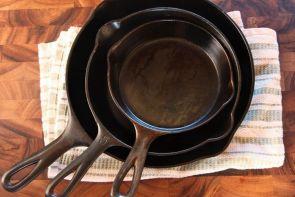 Kesinlikle Demir Döküm Tava veya Tencerede Pişirme