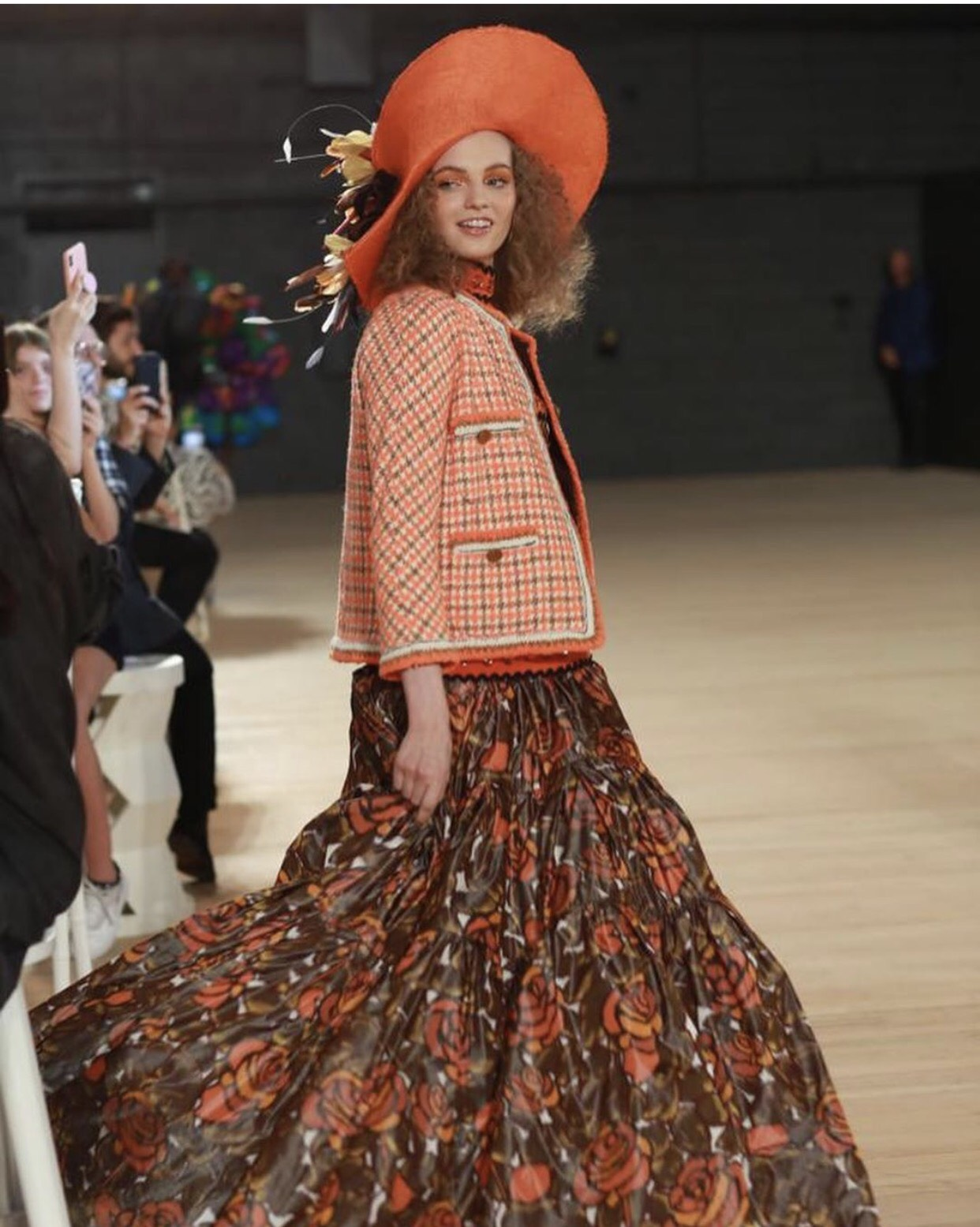 The famous designer presented his colorful collection in the festival atmosphere,