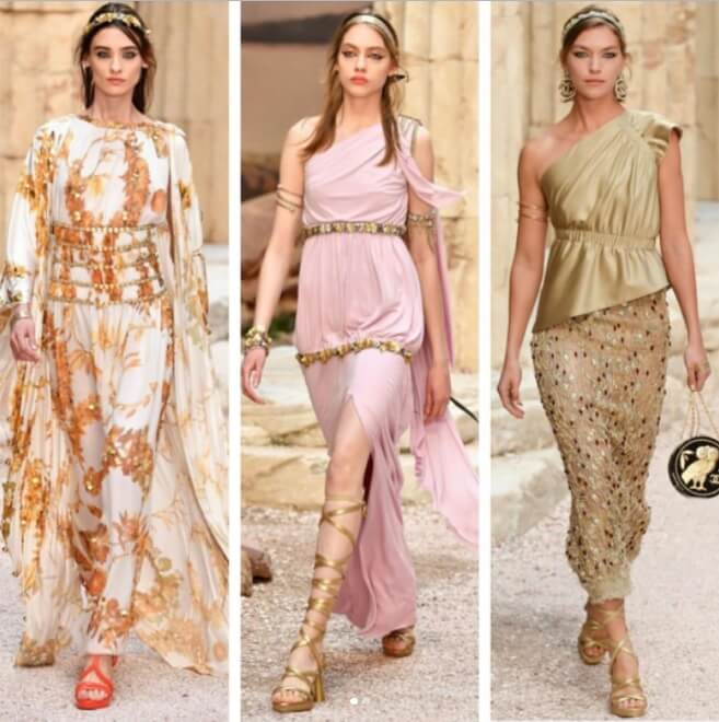 While Chanel displayed the 2020 Resort collection in the atmosphere of Ancient Greece in Paris,